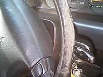Steering wheel - before